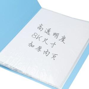 Image 2 - حافظة ملفات بلاستيكية A3 بيانات الكتاب صفحة ملونة 20 إدراج كليب 8 كيلو رسومات ألبوم ملصق A3 مجلد ملفات ل مكتب