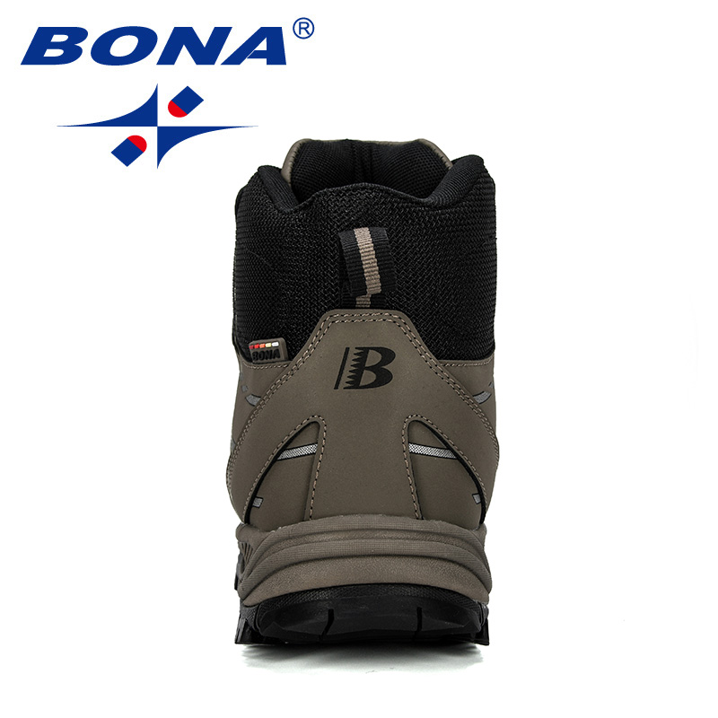 Image 2 - BONA 2019 New Designer Hiking Shoes Men Cow Split Plush Boots Man Mountain Climbing Shoes Outdoor Sport Shoes Trekking Sneakers-in Hiking Shoes from Sports & Entertainment