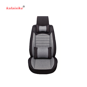 Kalaisike Flax Universal Car Seat covers for Land Rover all models Rover Range Evoque Sport Freelander Discovery 3 4 car styling