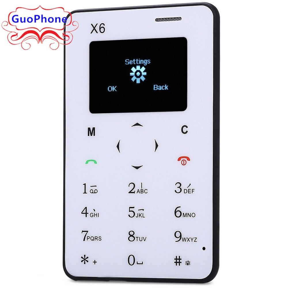<font><b>AIEK</b></font> X6 CellPhone Ultra Thin Little Kid Chidren Backup Wallet <font><b>Phone</b></font> Ultrathin Student Version Credit <font><b>Card</b></font> Unlocked Mini <font><b>Phone</b></font>