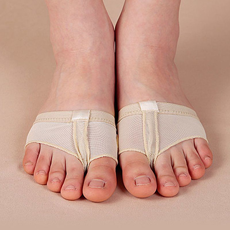 2pcs/Pair Rhythmic Ballet Drill Dance Paw Shoes Gymnastics Foot Thongs Elastic Soft Lace Dancing Shoes Half Sole Accessories