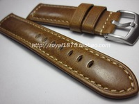 Men Handmade 22mm 24mm Watchband Vintage Brown Cow Leather Watch Band For Panerai Fossil Watch Strap