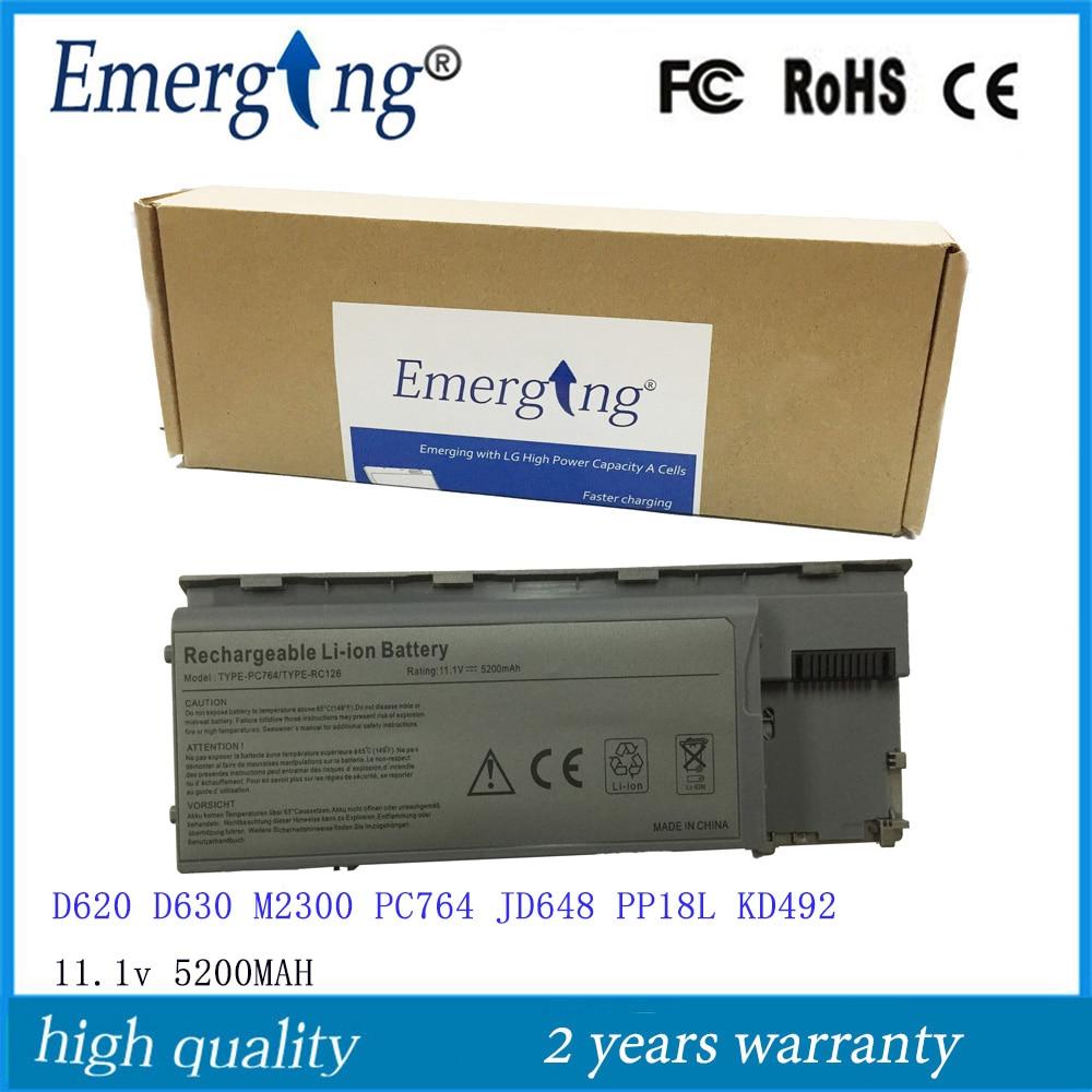 11.1V 5200mah bateri komputer riba yang berkualiti tinggi baru untuk Dell D620 D630 M2300 PC764 NT379 TC030