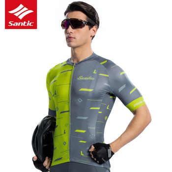Santic Men Short Slrrve Cycling Jersey Professional Competition Road Bike MTB Bike Riding Jerseys Summer Bicycle Team Shirt S-2X