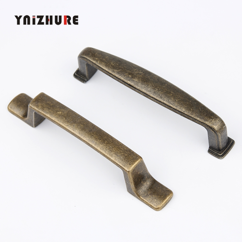 Ancient Pull Simple Bronze Door Knob Antique Solid Alloy Cabinet Drawer Hardware Furniture Handshandle Classical Vintage Handle