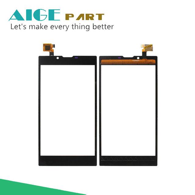 Para archos 55 platinum sensor de lente de la pantalla táctil original de reemplazo del panel táctil móvil para archos 55 platinum móvil