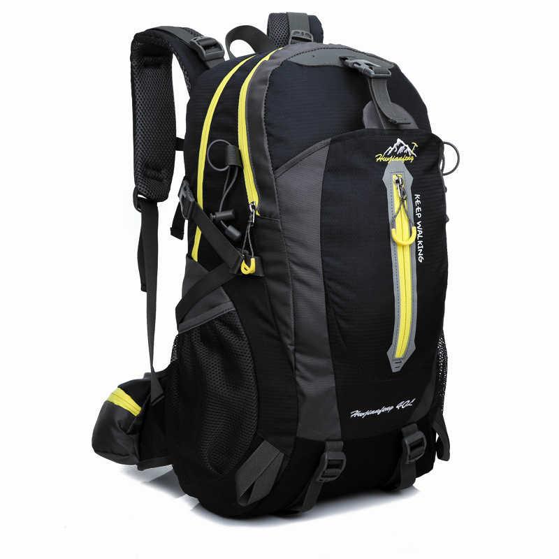 Tahan Air Mendaki Ransel 40L Outdoor Tas Olahraga Perjalanan Berkemah Mendaki Tas Ransel Ransel Wanita Trekking untuk Pria