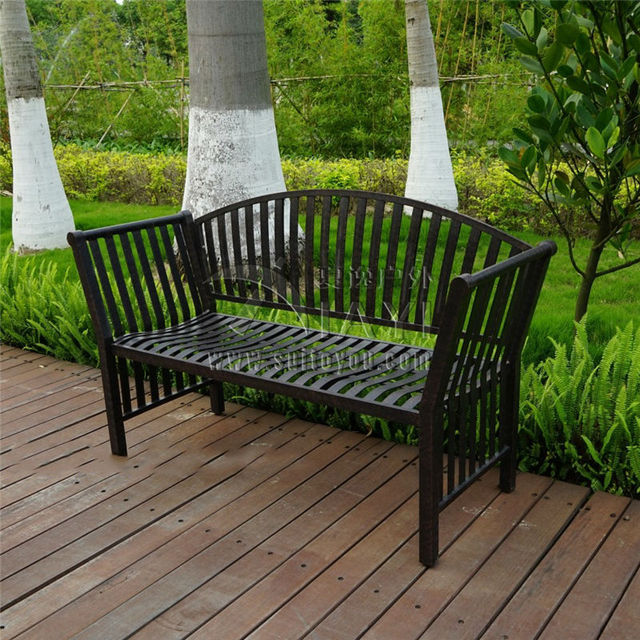 Two Person Cast Aluminum Luxury Durable Leisure Garden Bench Park Chair  Outdoor Furniture Seat