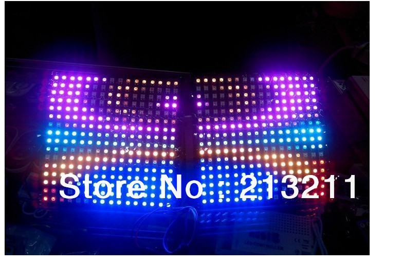 16*16 256 LED 5050 Pixel WS2812B panneau de LED Flexible numérique intégré WS2811 RGB couleur individuellement DC5V