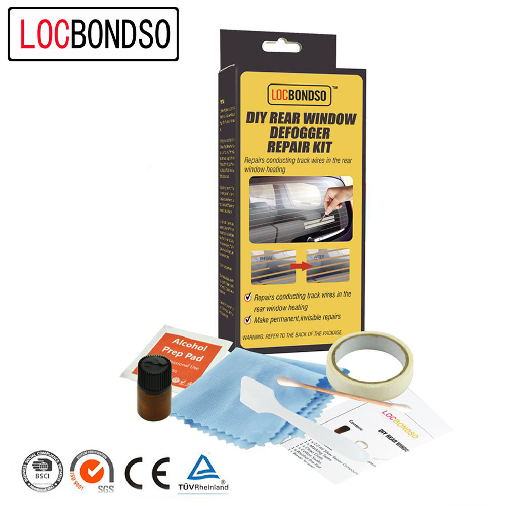 LocBondso 1 Set DIY Rear Window Defogger Repair Kit For Broken Grid Lines  Make Permanent Invisible Car Fix Cleaning Accessories-in Window Repair from  ...
