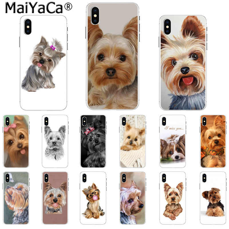 MaiYaCa Yorkshire terrier dog Newest Fashion Novelty Fundas Phone Case Cover for iPhone X XS MAX 6 6S 7 7plus 8 8Plus 5 5S XR