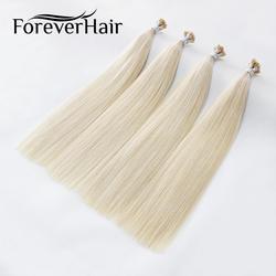 """Волос навсегда 0,8 г/локон 16 """"18"""" 22 """"Remy я дважды обращается Совет натуральные волосы расширение платиновая блондинка #60 Кератин Облигаций Волос"""