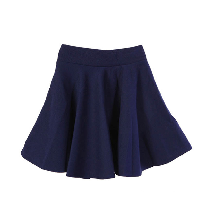 Skirts Womens Ladies High Elastic Skirt Waist Cotton Pleated Mini Short Skirt OL Slim Ne ...