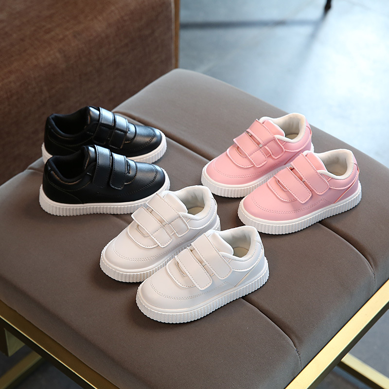 Unisex high quality All seasons baby first walkers Pu fashionable pure solid girls boys shoes cute noble baby sneakers