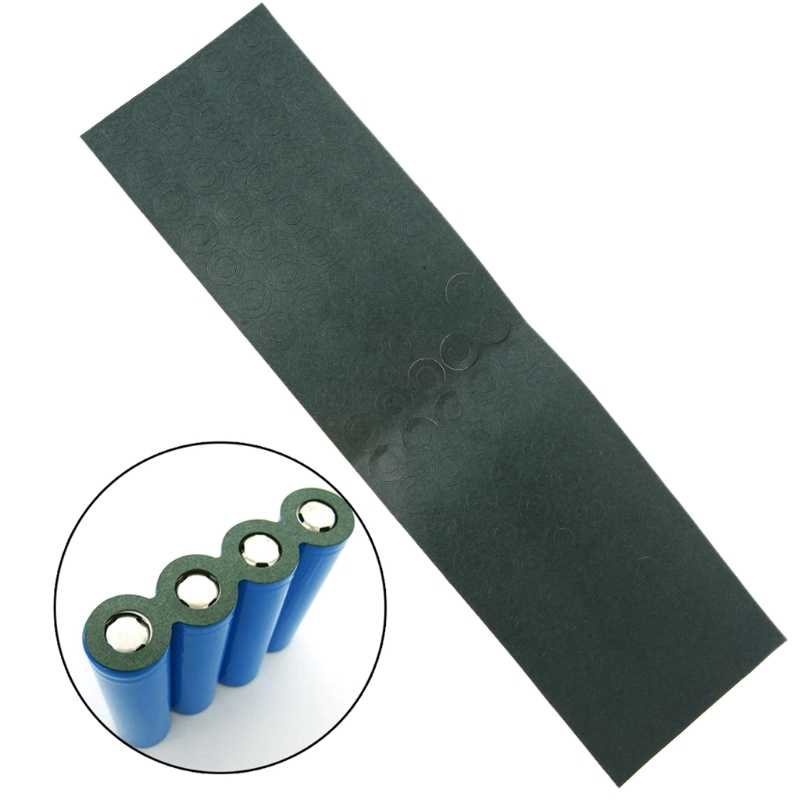 100 pièces 1 S 18650 Li-ion batterie isolation joint orge papier batterie paquet cellule isolante colle Patch électrode tampons isolés