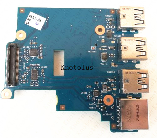 New for HP 650 g1 Card Reader LAN Ethernet USB Port Board Connector 6050A2566801