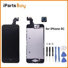 Ipartsbuy para iphone 5c pantalla lcd frontal + cámara + envío Herramientas de reparación + Home + Marco + Pantalla Táctil Digitalizador Asamblea