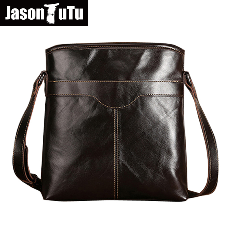 JASON TUTU 2017 Genuine Leather Bags Men High Quality Messenger Bags Travel Small shoulder bag HN198 hot 2017 genuine leather bags men high quality messenger bags small travel black crossbody shoulder bag for men li 1611