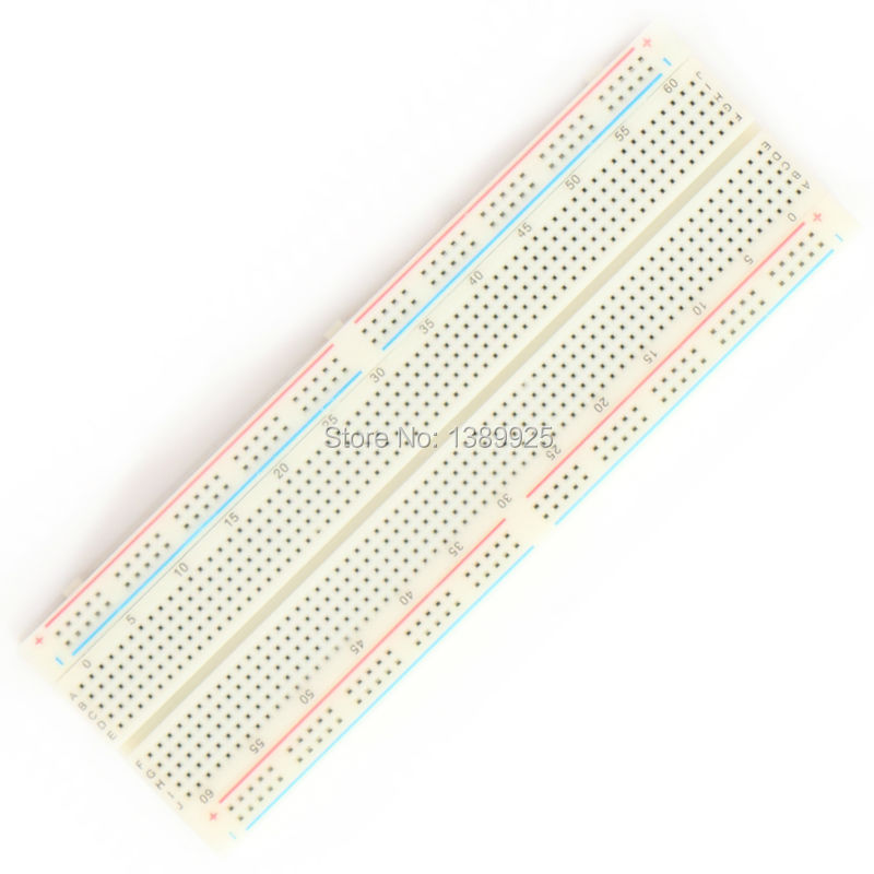 Wholesale 1pc NEW MB-102 MB102 Breadboard 830 Point Solderless PCB Bread Board for Test Develop DIY