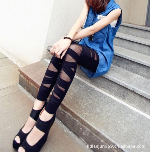 spring and autumn Sexy Women's Fashion Black Skin...