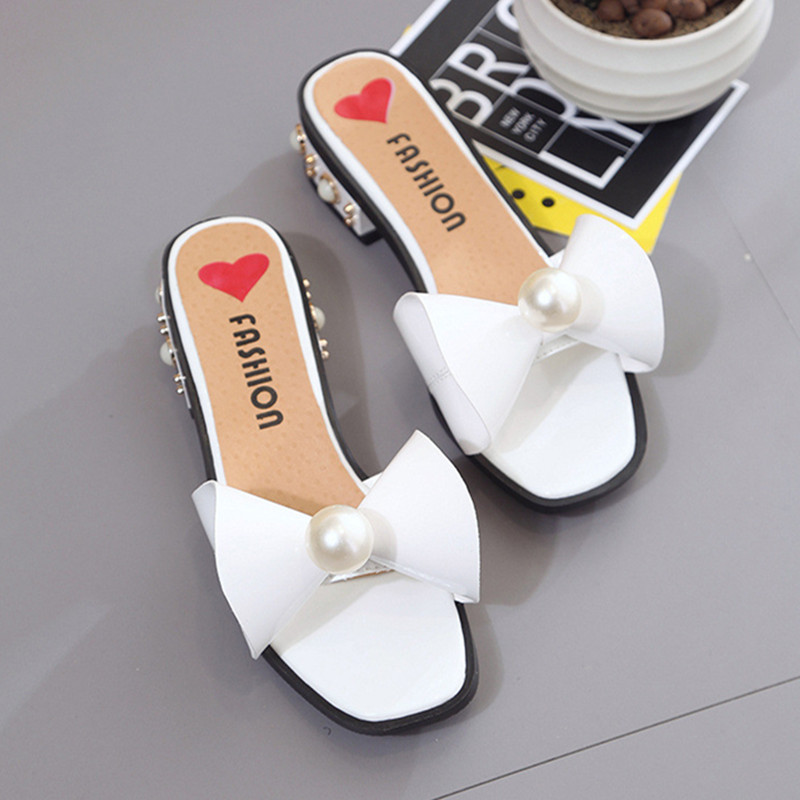 Women Sandals Flips Flops 2017 Summer Style Shoes Woman Wedges Sandals Fashion Pearl Butterfly-knot Female Slides Ladies Shoes women sandals 2017 summer shoes woman flips flops gladiator wedges bohemia fashion rivet platform female ladies casual shoes