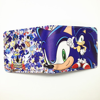 FVIP Sonic the Hedgehog Anime Wallet PU Cartoon Super Sonic Wallets for Student Teenager