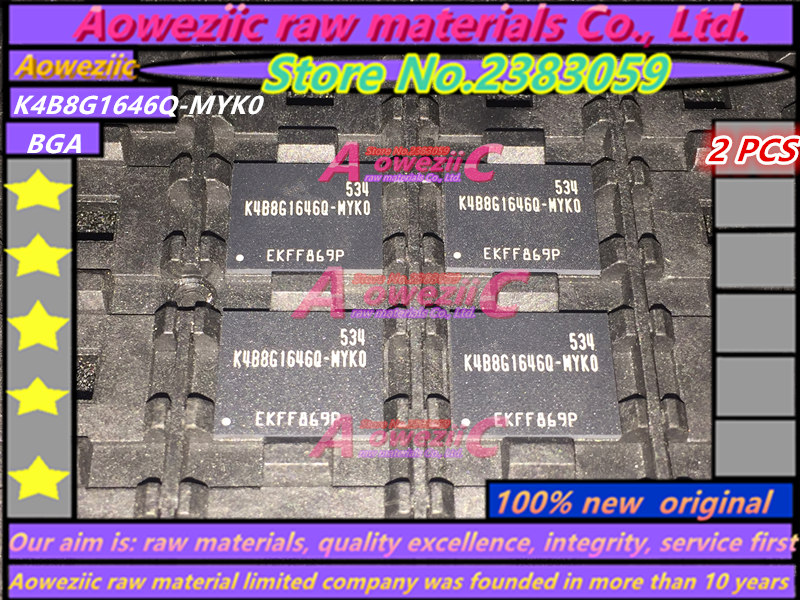 Aoweziic 100 new original K4B8G1646Q MYK0 K4B8G1646Q MCK0 K4B8G1646B MYK0 K4B8G1646B MCK0 BGA DDR3 8G Memory