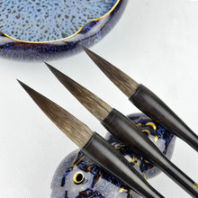 3PCS/set Chinese Calligraphy Brushes Large Middle Small Regular Script Mouse Hair Weasel hair Writing Brushes Landscape Painting