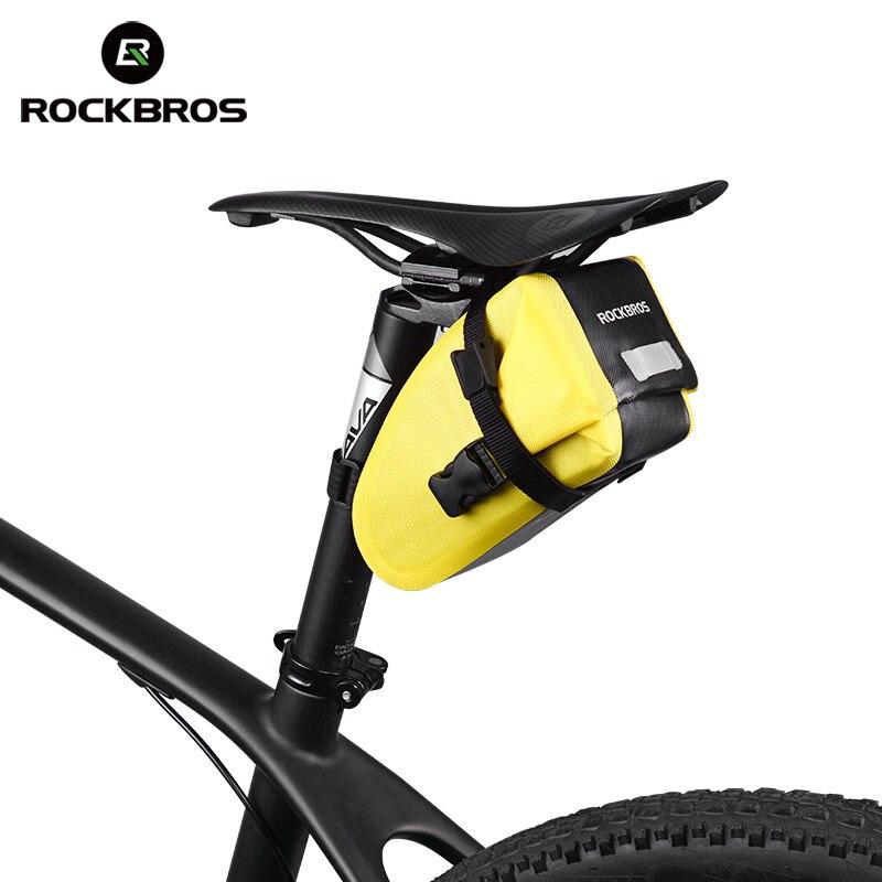 ROCKBROS Велосипедная сзади Топ труба сумка Водонепроницаемый MTB Велоспортная велосипедная седло Хвост сумка Светоотражающие Паньер рюкзак ве...