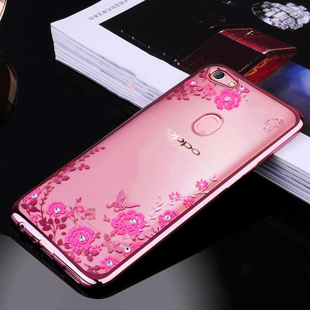 huge selection of d0adb 414fd US $1.43 35% OFF|For OPPO F5 Case Flower Bling Diamond Clear Soft TPU Back  Cover For OPPO F5 Youth Luxury silicone Phone Cases For OPPO A73 A73T-in ...