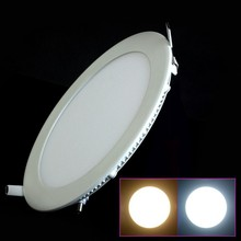 100pcs/lot Round LED panel light 3W/4W/6W/9W/12W/15W/18W AC110v 220v Led Panel Light AC85-265V Cool/Warm White Shape lamps