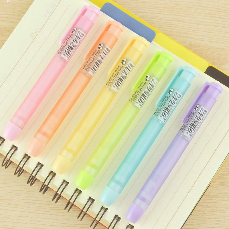 Creative Frosted Mechanical Pencil Erasers Cute Kawaii Candy Color Rubber For Kids School Supplies Student 2262 1pcs new creative stationery supplies kawaii cartoon pencil erasers for office school kids prize writing drawing student gift