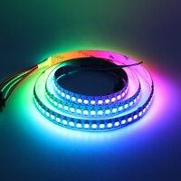 1 m WS2812 Inteligentne Pixel LED RGB Taśmy Białe PCB 144 leds/m ws2812 2812 WS2812 IC Sen Kolor Taśmy LED pikseli DC5V IP20 światło