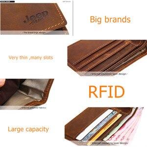 Image 5 - JEEP BULUO 高級ブランド紳士財布ビジネス牛本革の男性のカード財布財布最高品質ショート Carteira Masculina