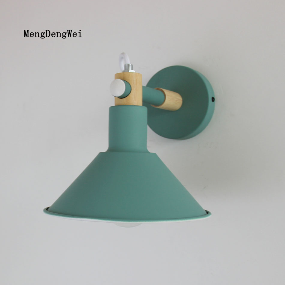 Modern Nordic LED wall lamp loft wall light bedside lamp bedroom living room wall lamp aisle bedroom Macaron style wall light nordic loft creative loft milan industrial style modern bedroom study long arm living room villa copper bronze wall sconce lamp