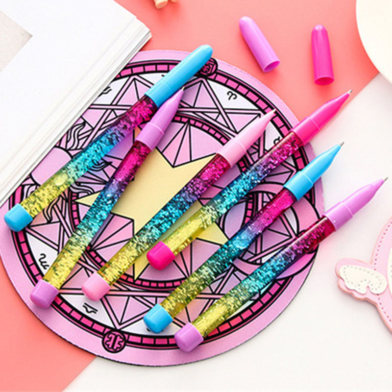 Ballpoint Pens Office & School Supplies Trustful Atgpjg1pcs Cute Little Fairy Pen 0.5mm Color Liquid Magic Creative Liquid Sand Pen Drift Sand Water Flash Water Wafer Ball Pen