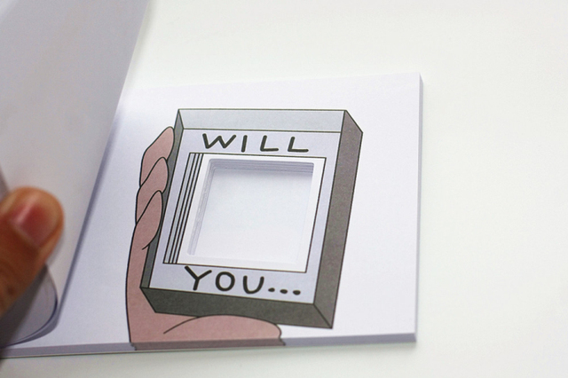 Will you marry me? Surprise booklet.