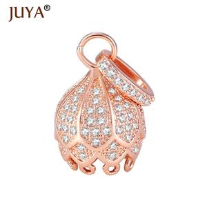 Pendants Tassels-End-Cap Jewelry-Accessories Charms Rose-Gold-Beads Rhinestone Copper