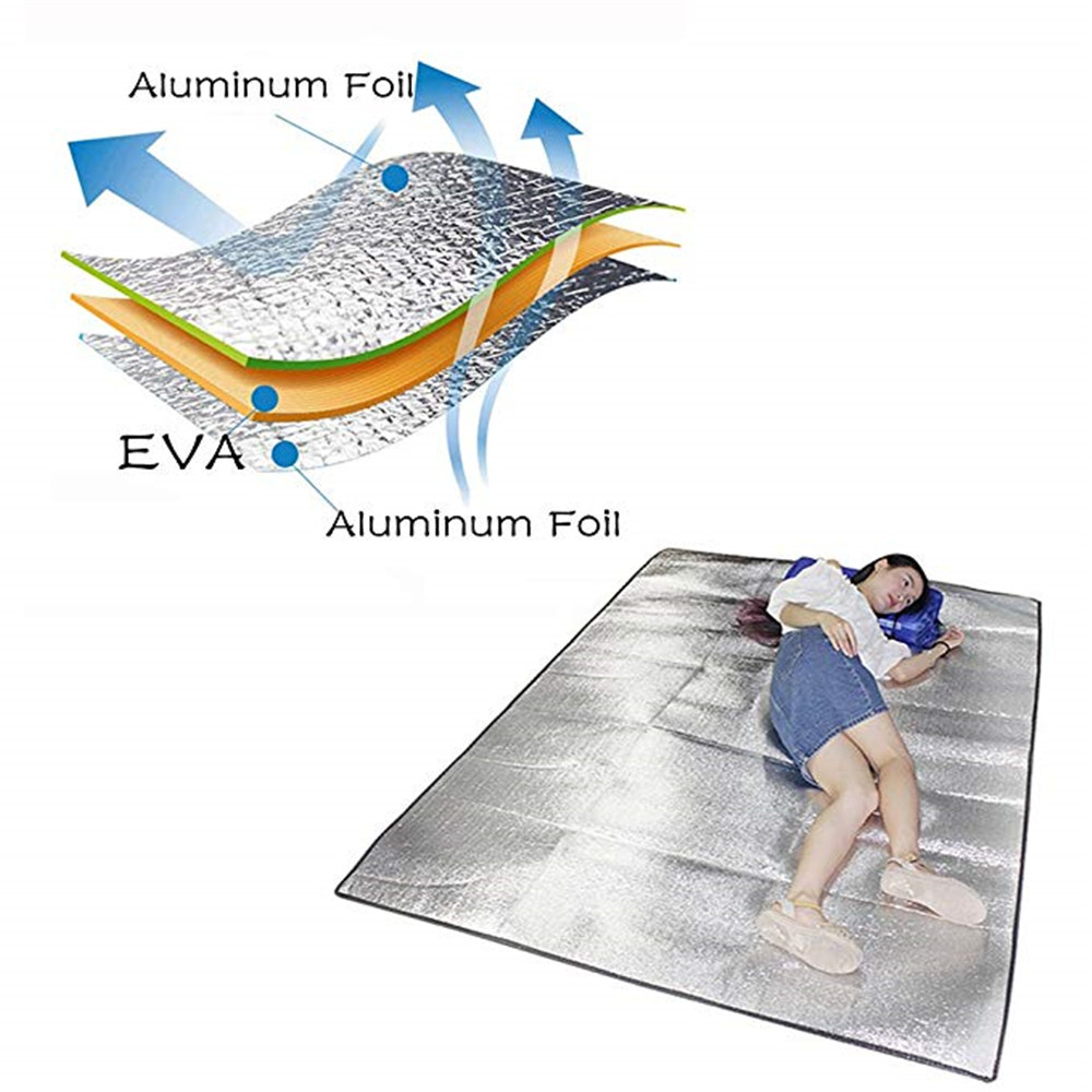 Folding Camping Foil Aluminum Inflatable Sleeping Mat EVA Outdoor Mattress