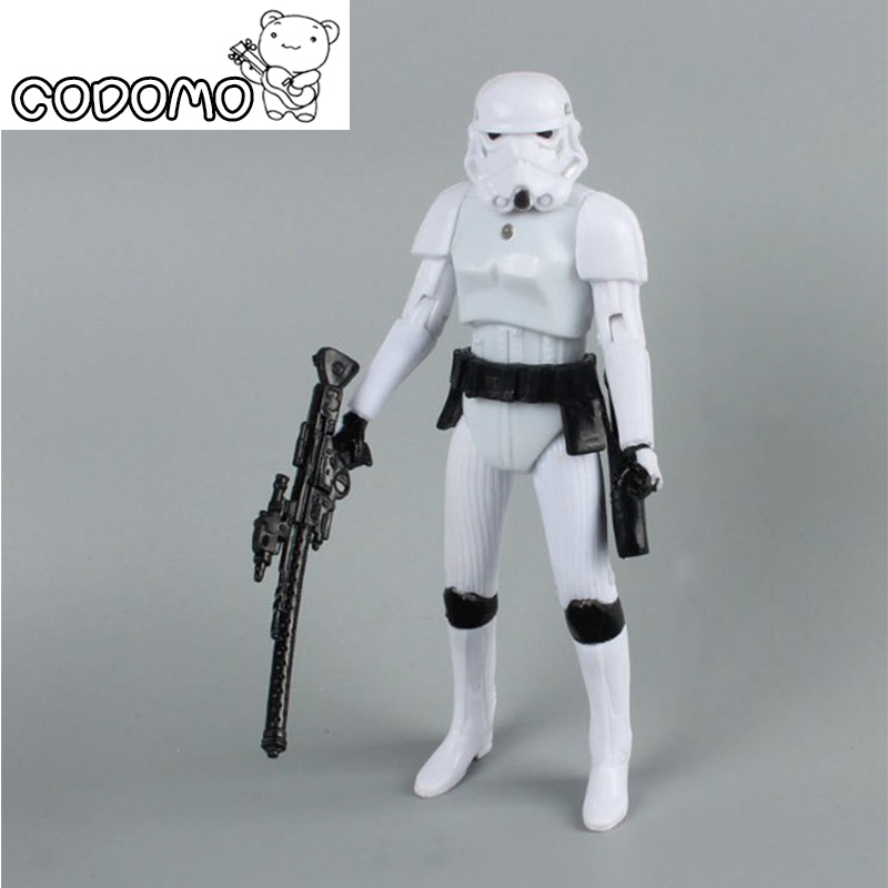 Plastic Star War Action Figures Minifigure Games Vinyl Desk Toys Darth Vader Storm Trooper Han Solo Christmas Birthday Gift Toy