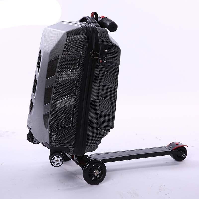 BeaSumore originalité Scooter roulant bagages hommes valise roues femmes ordinateur voyage sac étudiant multi fonction chariot-in Bagages à roulettes from Baggages et sacs    1