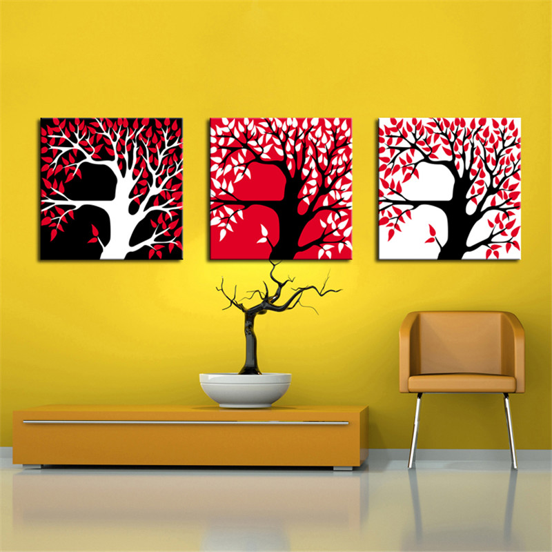 multi panels lucky money tree abstract Oil paintings Wall Art famous ...