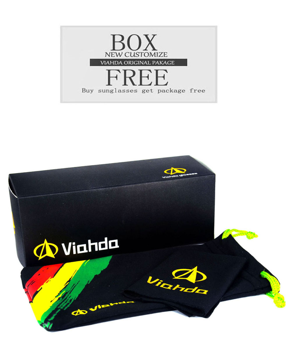 Viahda Sunglasses Women Men Brand Design Frame Sun Glasses For Men Fashion Classic UV400 Square Eyewear