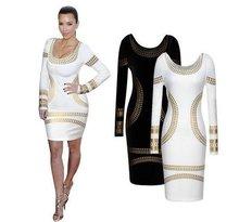Dashiki sonbahar hanım elbise Vestidos Yeni Kış Uzun Kollu Elbise Seksi Ince Elbise Bronzlaşmaya Baskı Ofis Elbise Ukrayna