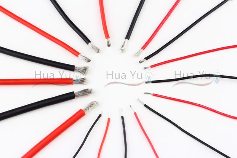 Kupfer 20AWG, 2 pin Rot Schwarz kabel, pvc isolierte draht, 20 awg ...