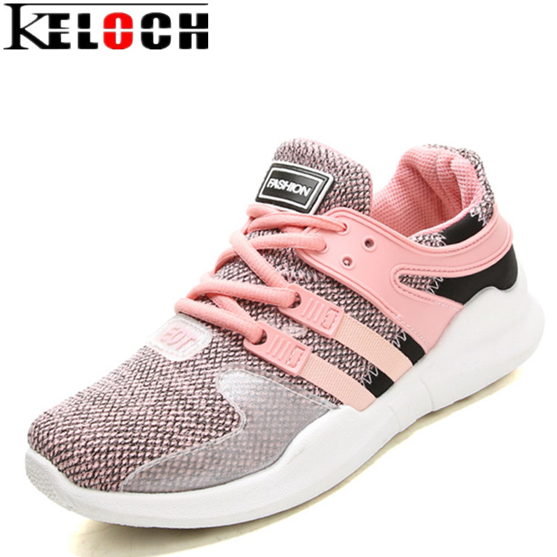 Keloch New Flying Mesh Breathable Womens Sneakers Comfortable Lightweight Ladies Running Shoes Spring Autumn Soft Women Walking