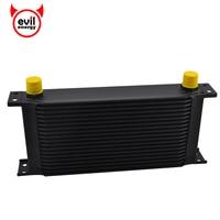19 Row 10AN Aluminum Universal Black Engine Oil Cooler Kit Transmission Cooler  Racing Oil Cooler Kit engine oil cooler kit -