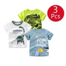 27kids 3pcs/lots Baby Clothing children t shirts Car Space rockets Print Kids Boy Tops Short Sleeve T-Shirt Summer  Tee