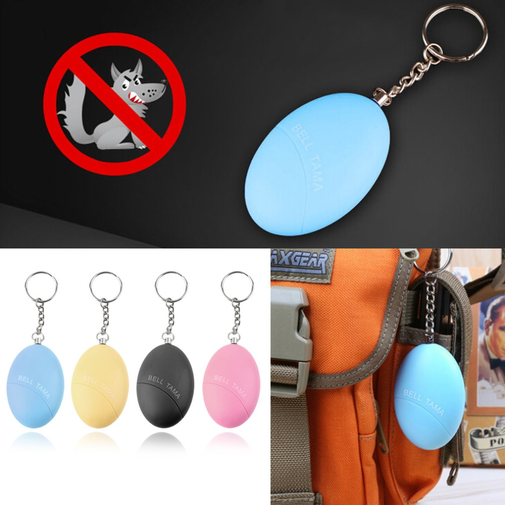 Self Defense Keychain Alarm Egg Shape Girl Women Anti-Attack Anti-Rape Security Protect Alert Personal Safety Scream Loud