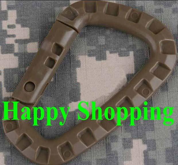 10 шт/лот переносное стопорное кольцо D Тип альпинистская Пряжка шоколад